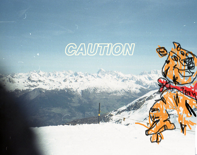 frosted flake, frosties, Harrison Mills Brown, Caution, LCD Painting, Original Art