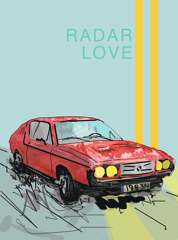 Radar love, digital drawing, modern art, graphics