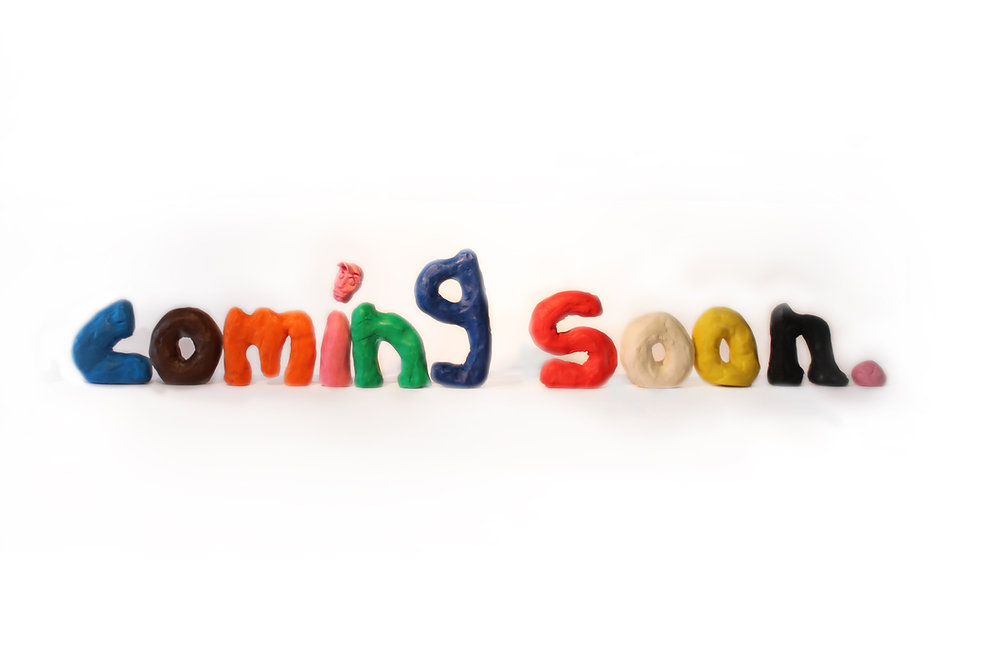 Coming Soon, sculpture, installation Modern art, playful, colourful WIP workin in process