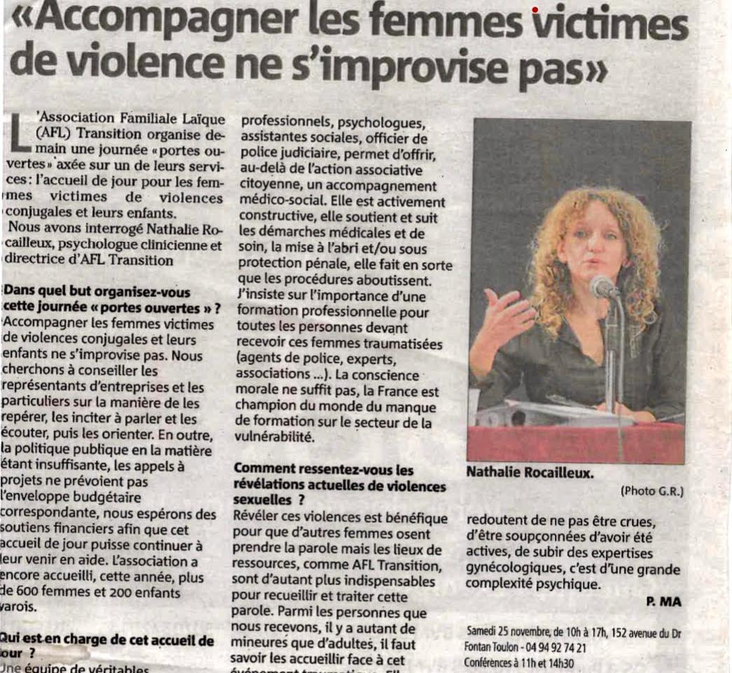 """""""Accompagner les femmes victimes de violence ne s'improvise pas"""""""