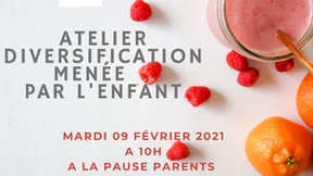 Pause Parents Tourves Atelier DME 09.02.2021 à 10H