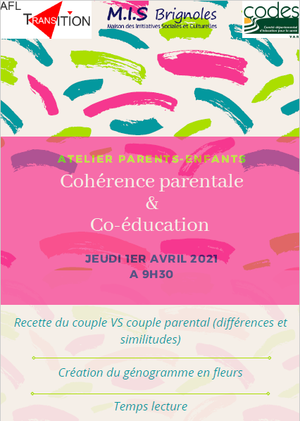 Pause Parents Tourves Atelier Parentalité 1er avril 2021 9h30