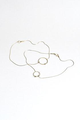 Circus - Collier - Cercle M et deux perles de métal