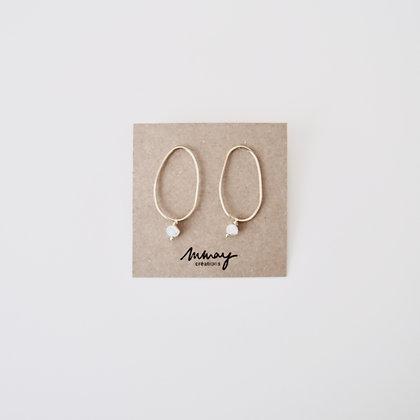 VOLUTE Les Inédits - Boucles d'oreilles - Courbe L perle M