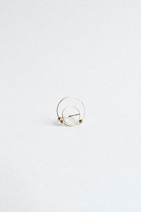Circus - Bague - Deux cercles et trois perles de métal