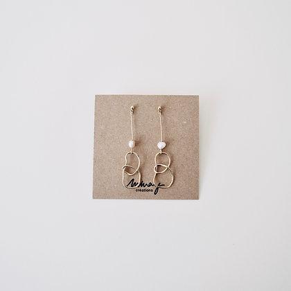 VOLUTE Les Inédits - Boucles d'oreilles - Noeud large et perle M