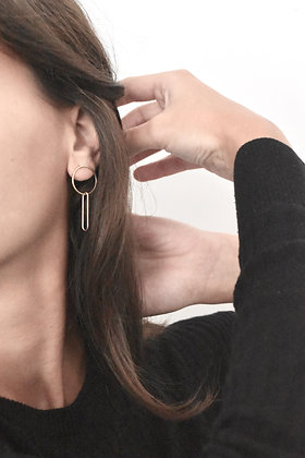 FIGURES - Boucles d'oreilles - Ovale et rond
