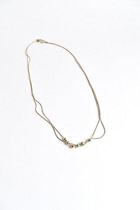 Circus - Collier - Double chaine et six perles métal