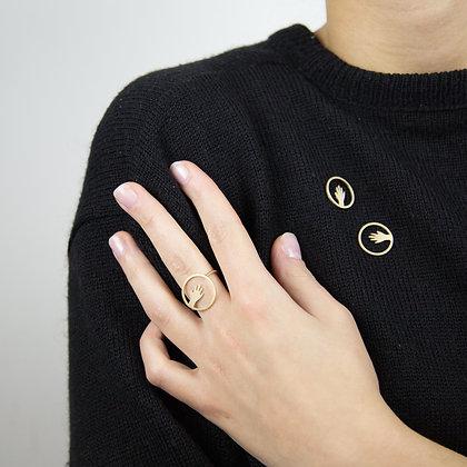 NU - Pin's - Étreinte mini main