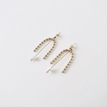 VOLUTE Les Inédits - Boucles d'oreilles - Arc perlé M et perle M