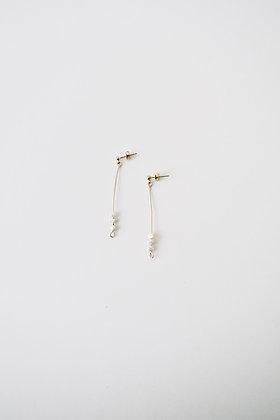 VOLUTE Les Inédits - Boucles d'oreilles - Trois perles S