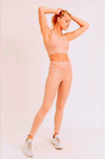 Peachy Cheetah Print Sport Leggings