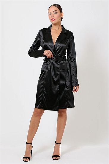Satin Trench Coat