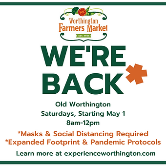 2021 Outdoor Market - We're Back social