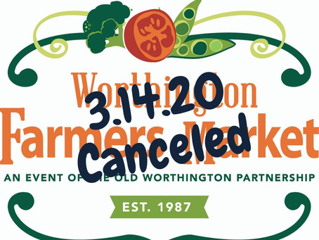 The Worthington Farmers Market is Closed This Saturday