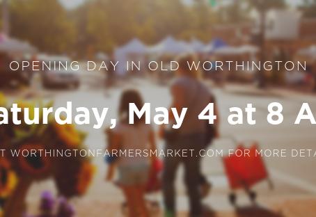 Season Opening - The Worthington Farmers' Market is Outdoors - May 4