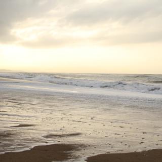 The beach at sunrise