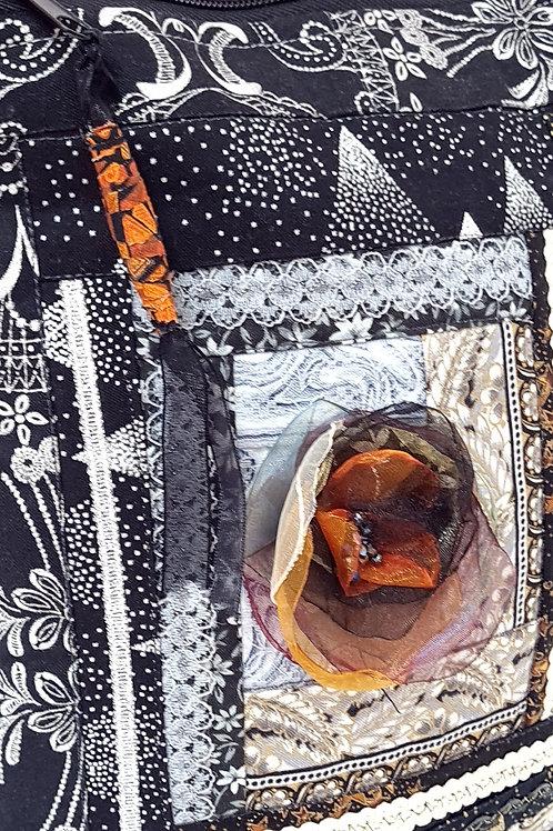 תיק צד-סידרה שחור אפור-5