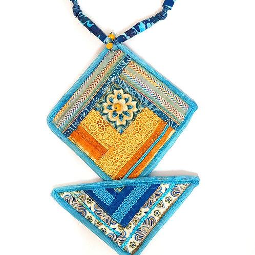 תכשיטים מעוצבים-שרשראות  קווילט טורקיז-1