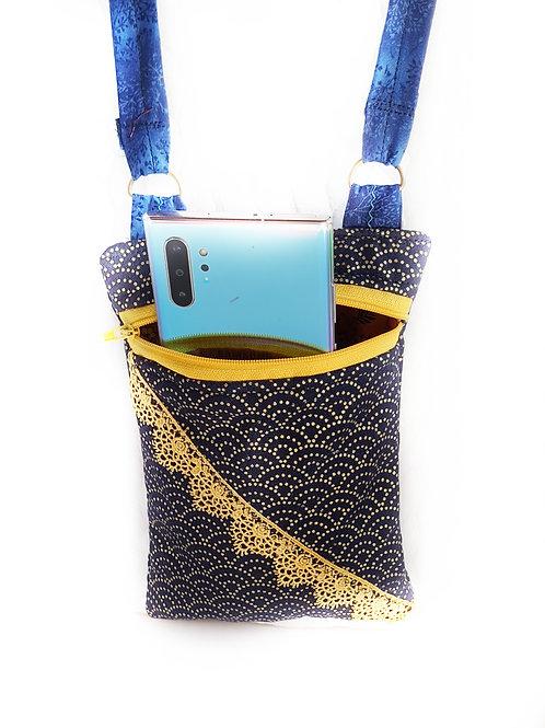 תיק לטלפון נייד סידרה כחולה-5