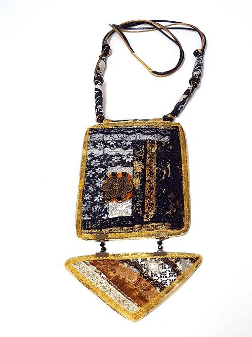 תכשיטים מעוצבים-שרשראות קווילטשחור זהב-3