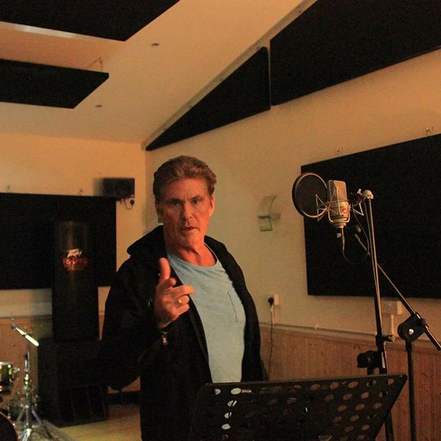 Remember guys - don't hassle the Hoff! #recordingstudios #recordingartist #blackpool2016 #blackpoolm