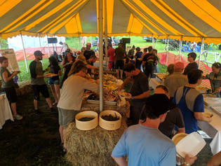 happy mountain bikers - Trail Break taps + tacos