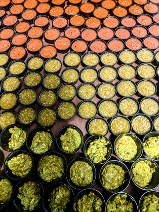 a sea of salsa (and guac)  - Trail Break taps + tacos