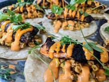 fish tacos make everyone happy - Trail Break taps + tacos