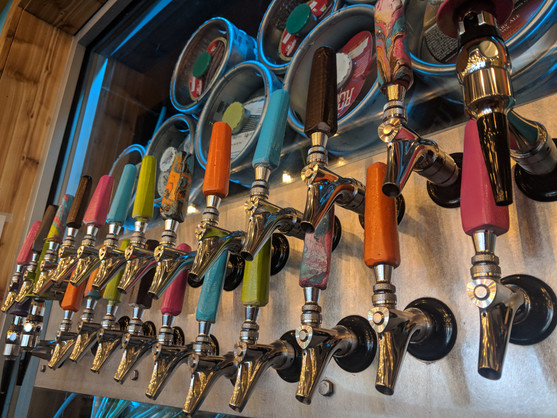 28 taps ready to pour the good stuff - Trail Break taps + tacos