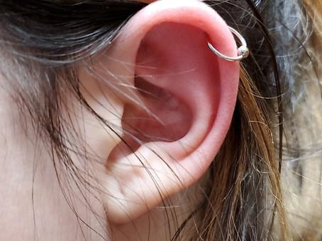 Helix 18ga piercing