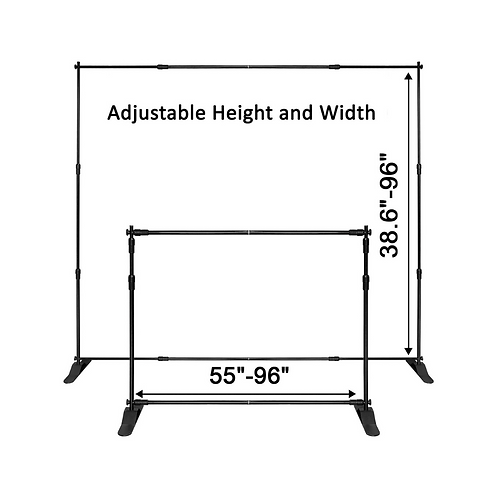 Step and Repeat Display Backdrop Banner Stand 8' x 8'