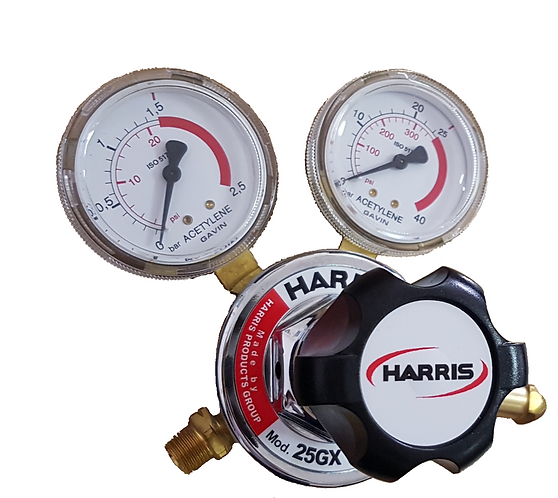 Harris Acetylene Regulator - Model 25GX