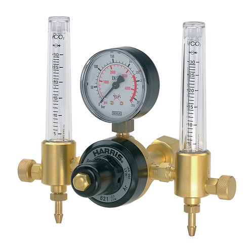 Harris Argon Regulator Dual flow - Model 821D-F