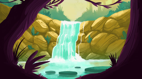 Glowing Waterfall