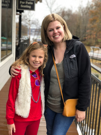 Birth mother and daughter in open adoption
