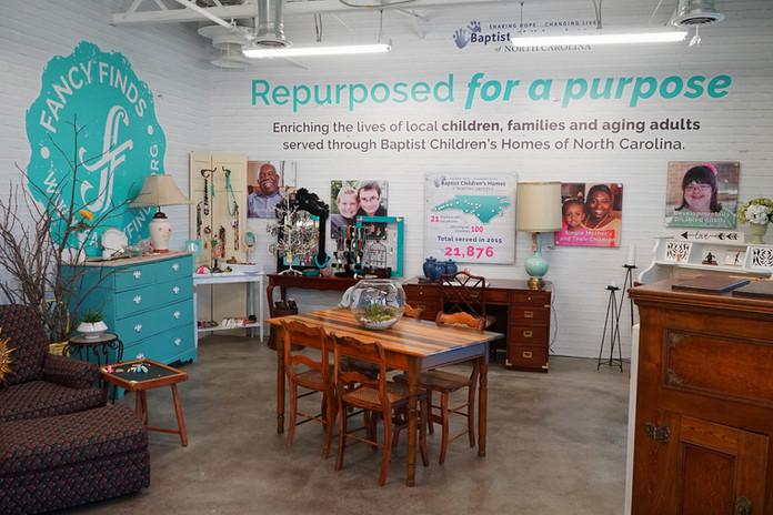 Inside Fancy Finds Resale store