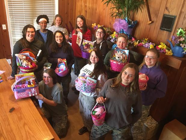 Easter basket celebration at Camp Duncan