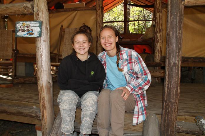 Chief & girl at Camp Duncan