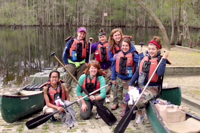 Camp Duncan canoe trip