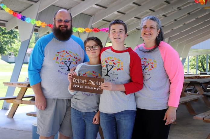 Adoptive family photo