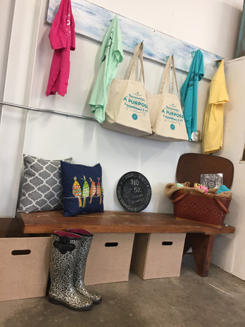Corner of Fancy Finds Resale Store