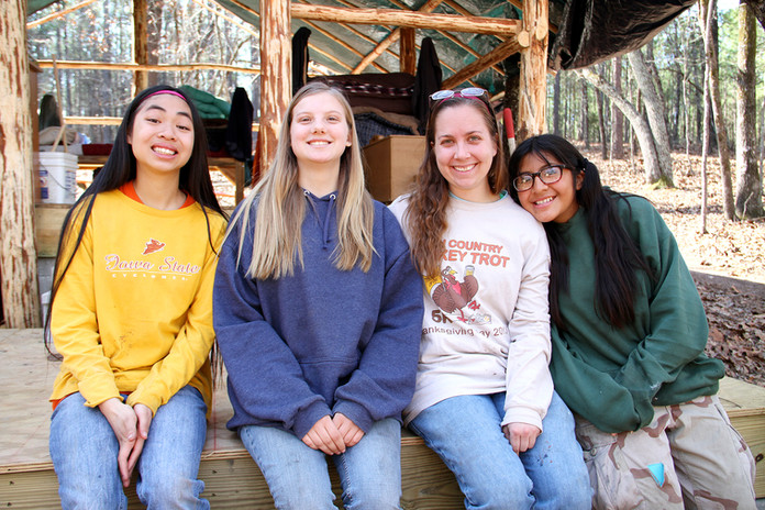 Camp Duncan girls smiling