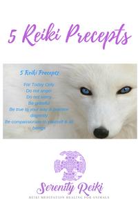 The 5 Reiki Precept to Live by