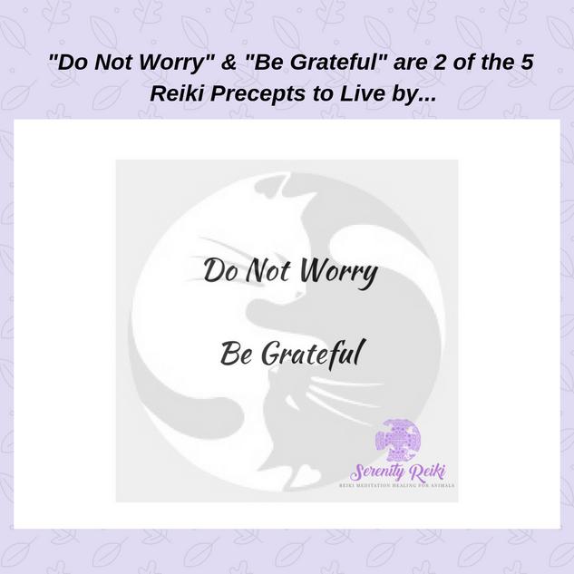 5 Reiki Precepts