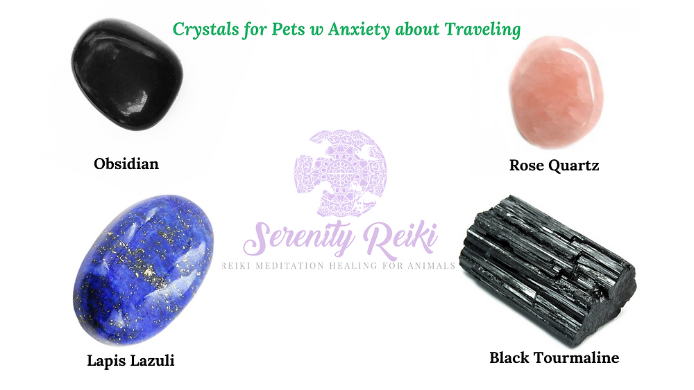 crystals for pets w anxiety about traveling