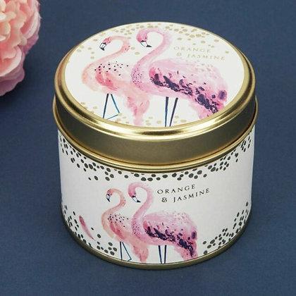 Flamingo Candle Tin