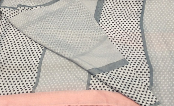 Grey and Pink Dot Scarve