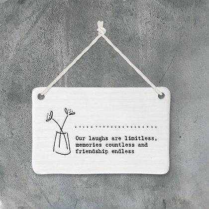 Friendship Porcelain Mini Sign