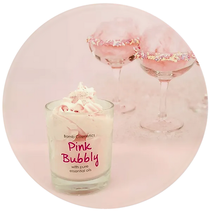 Pink Bubbly Candle